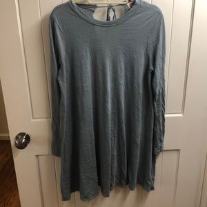 Blue shirt dress from Free People.